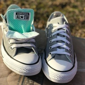 Converse All Star Grey WmNs 8 double tongue